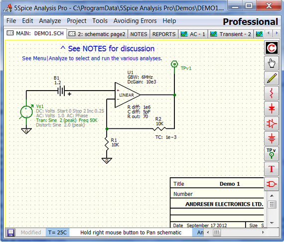 5Spice circuit analysis and simulation software - download